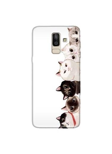 People's Cover Galaxy J8 2018 Baskılı Telefon Kılıfı Renkli